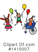 Royalty-Free (RF) Handicap Clipart Illustration #1410007