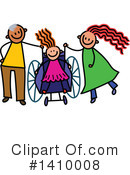 Royalty-Free (RF) Handicap Clipart Illustration #1410008