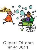 Royalty-Free (RF) Handicap Clipart Illustration #1410011