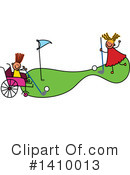 Royalty-Free (RF) Handicap Clipart Illustration #1410013