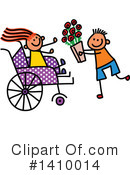 Royalty-Free (RF) Handicap Clipart Illustration #1410014