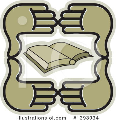 Book Clipart #1393034 by Lal Perera