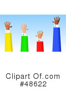 Royalty-Free (RF) Hands Clipart Illustration #48622