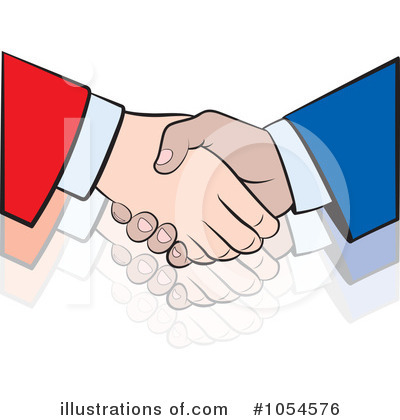 Royalty-Free (RF) Handshake Clipart Illustration by Lal Perera - Stock Sample #1054576