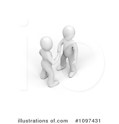 Royalty-Free (RF) Handshake Clipart Illustration by chrisroll - Stock Sample #1097431
