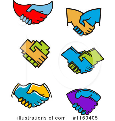Royalty-Free (RF) Handshake Clipart Illustration by Vector Tradition SM - Stock Sample #1160405