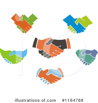 Handshake Clipart #1164768 by Vector Tradition SM