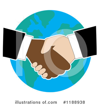 Royalty-Free (RF) Handshake Clipart Illustration by Maria Bell - Stock Sample #1188938
