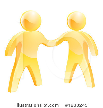Handshake Clipart #1230245 by AtStockIllustration