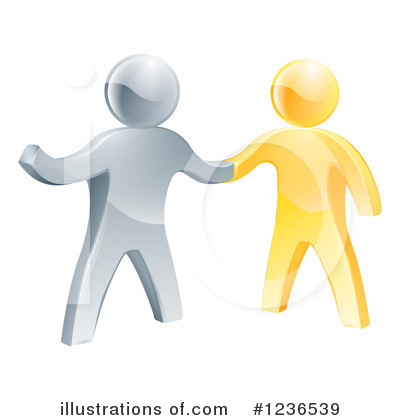 Handshake Clipart #1236539 by AtStockIllustration