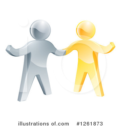 Royalty-Free (RF) Handshake Clipart Illustration by AtStockIllustration - Stock Sample #1261873