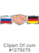 Handshake Clipart #1279279 by Lal Perera