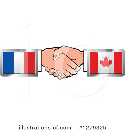 Royalty-Free (RF) Handshake Clipart Illustration by Lal Perera - Stock Sample #1279325