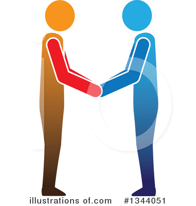 Handshake Clipart #1344051 by ColorMagic