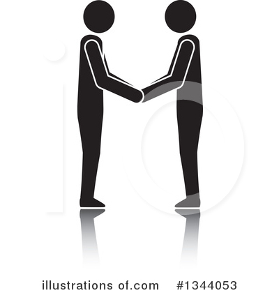 Handshake Clipart #1344053 by ColorMagic