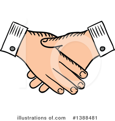 Handshake Clipart #1388481 by Vector Tradition SM