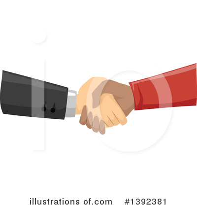 Handshake Clipart #1392381 by BNP Design Studio