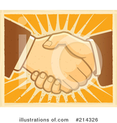 Royalty-Free (RF) Handshake Clipart Illustration by Cory Thoman - Stock Sample #214326