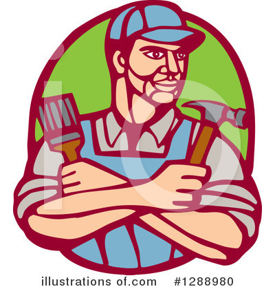 Builder Clipart #1288980 by patrimonio