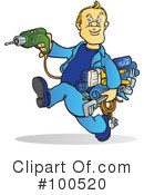 Royalty-Free (RF) Handyman Clipart Illustration #100520