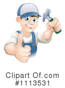 Royalty-Free (RF) Handyman Clipart Illustration #1113531
