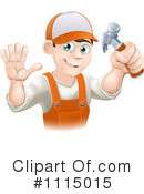 Royalty-Free (RF) handyman Clipart Illustration #1115015