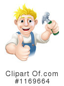 Royalty-Free (RF) Handyman Clipart Illustration #1169664
