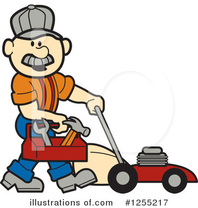 Lawn Mower Clipart #1255217 by Andy Nortnik