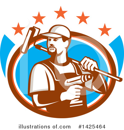 Royalty-Free (RF) Handyman Clipart Illustration by patrimonio - Stock Sample #1425464