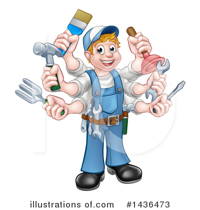Plumber Clipart #1436473 by AtStockIllustration