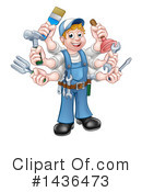 Handyman Clipart #1436473 by AtStockIllustration