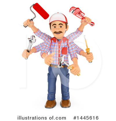 Worker Clipart #1445616 by Texelart