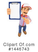 Royalty-Free (RF) Handyman Clipart Illustration #1446743