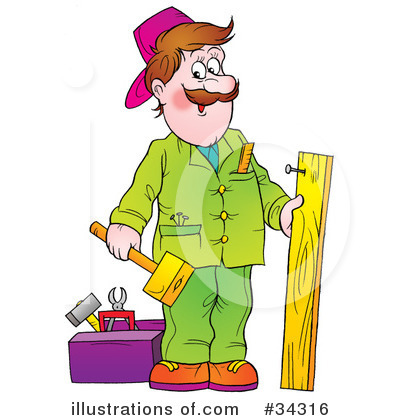 Handyman Clipart #34316 - Illustration by Alex Bannykh