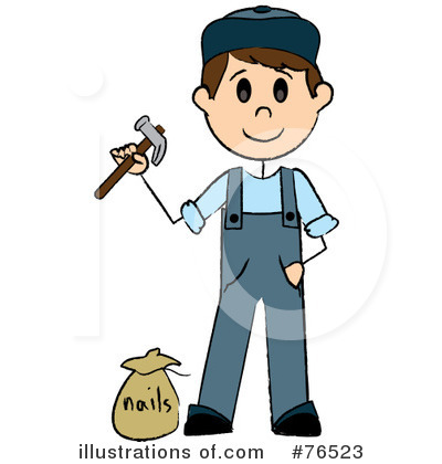 Handyman Clipart #76523 by Pams Clipart