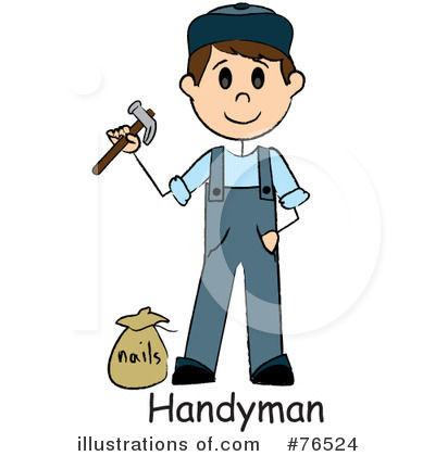 Handyman Clipart #76524 by Pams Clipart