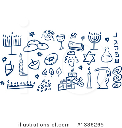 Dreidel Clipart #1336265 by Liron Peer