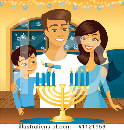 Hanukkah Clipart #1121956 by Amanda Kate