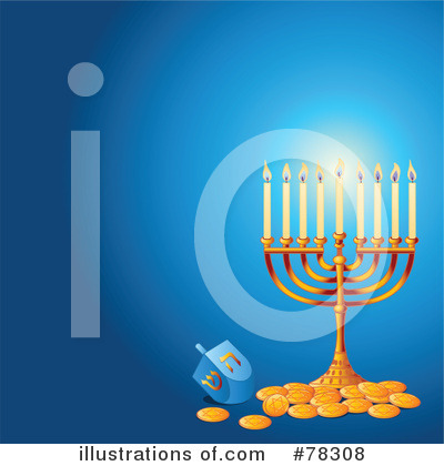 Royalty-Free (RF) Hanukkah Clipart Illustration by Pushkin - Stock Sample #78308