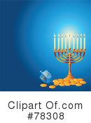 Royalty-Free (RF) Hanukkah Clipart Illustration #78308