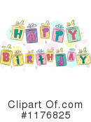 Royalty-Free (RF) Happy Birthday Clipart Illustration #1176825