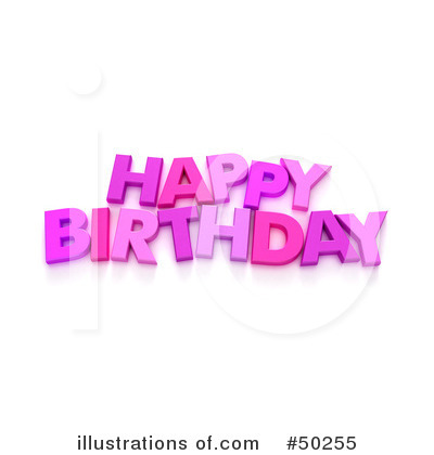 More Clip Art Illustrations of Happy Birthday