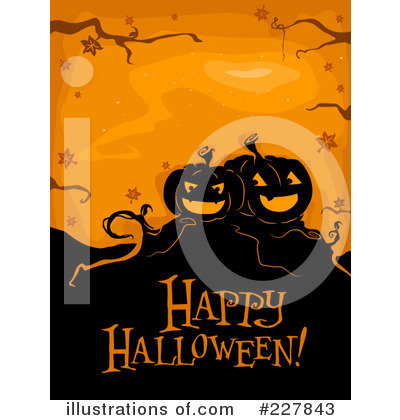 Royalty-Free (RF) Happy Halloween Clipart Illustration by BNP Design Studio - Stock Sample #227843