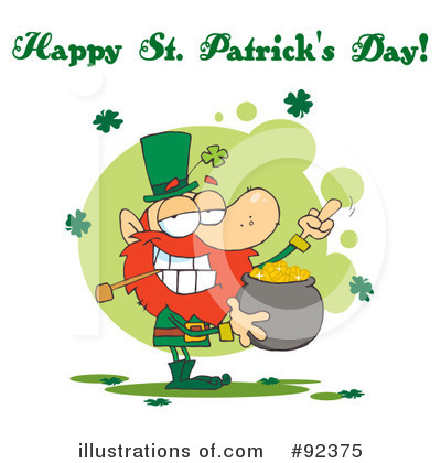 Royalty-Free (RF) Happy St Patricks Day Clipart Illustration by Hit Toon - Stock Sample #92375