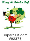 Royalty-Free (RF) Happy St Patricks Day Clipart Illustration #92378