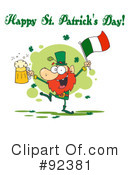 Royalty-Free (RF) Happy St Patricks Day Clipart Illustration #92381