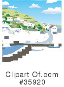 Royalty-Free (RF) harbor Clipart Illustration #35920