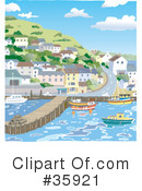Royalty-Free (RF) harbor Clipart Illustration #35921