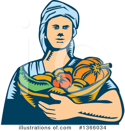 Farmer Clipart #1366034 by patrimonio
