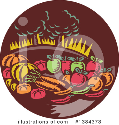 Royalty-Free (RF) Harvest Clipart Illustration by patrimonio - Stock Sample #1384373